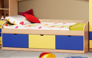 Кровать Фант с 3 ящиками МДФ в Челябинске