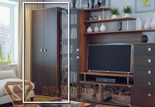 Шкаф Нота 16 SV-мебель слива/венге в Челябинске