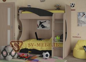 Кровать двухъярусная Бэмби 4 в Челябинске