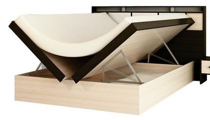 Кровать Фудзи с поднятым механизмом
