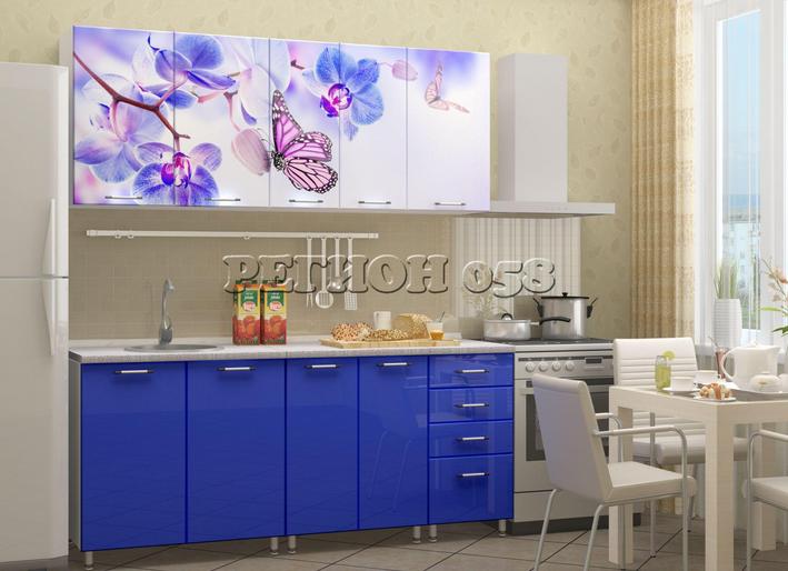 Кухня фотопечать 1800 058 бабочки в Челябинске