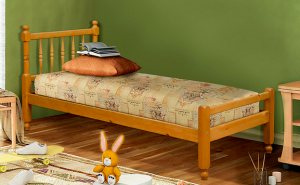 Кровать со спинками из массива сосны в Челябинске
