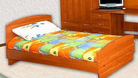 Кровать односпальная с матрасом в Челябинске