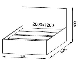 Кровать Ронда 1200 мм