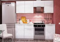 Кухня София 2100 МДФ металлик белая в Челябинске
