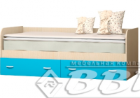 Кровать Беби 2 ЛДСП синяя ВВР в Челябинске