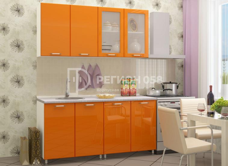 Кухня Настя глянец МДФ регион058 в Челябинске