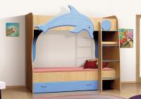 Детская двухъярусная кровать Витамин А Дельфин в Челябинске