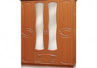 Шкаф 4 стоврки с ящиками МДФ Вита в Челябинске