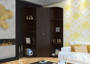 Шкаф угловой Мария с двумя стеллажами в Челябинске