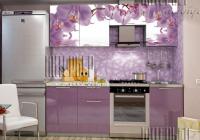 Кухня Олива 2.1 фотопечать орхидеи в Челябинске