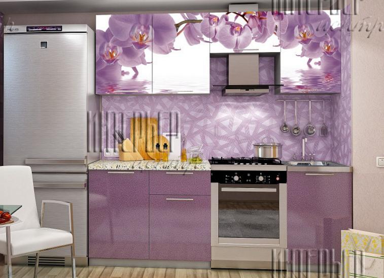 Кухня София 2.1 фотопечать орхидеи в Челябинске