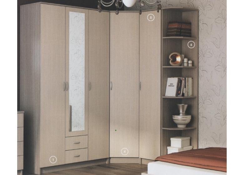 угловые модульные шкафы для спальни фото