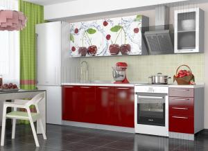 Кухня София фотопечать 2000 вишня в Челябинске