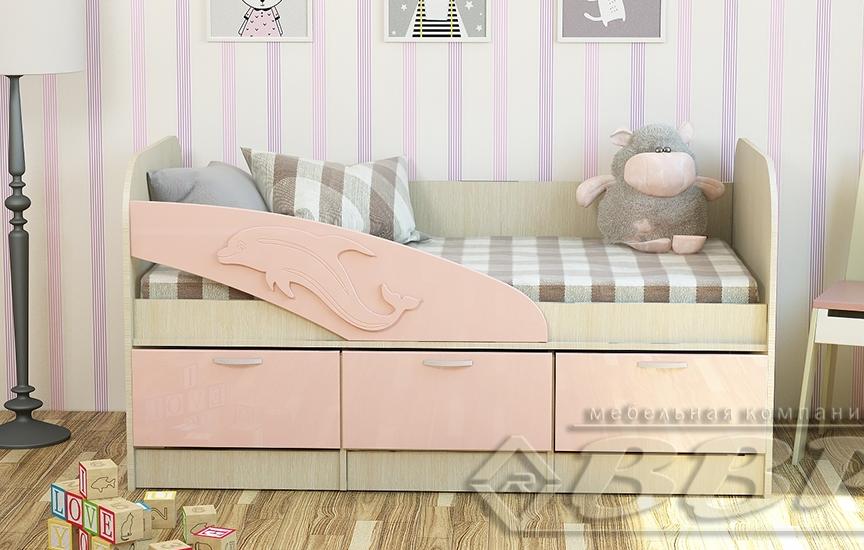 Детская кровать Дельфин МДФ ВВР в Челябинске