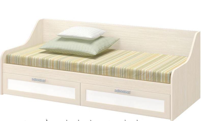 Детская кровать Юниор 7 белфорт/белый в Челябинске