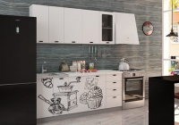 Кухня Coffee Time 1800 декор 1 в Челябинске