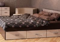 Кровать КР 1200/1400/1600 с 6 ящиками Памир в Челябинске