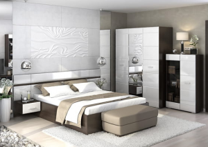 Спальня Вегас белый глянец Стендмебель в Челябинске