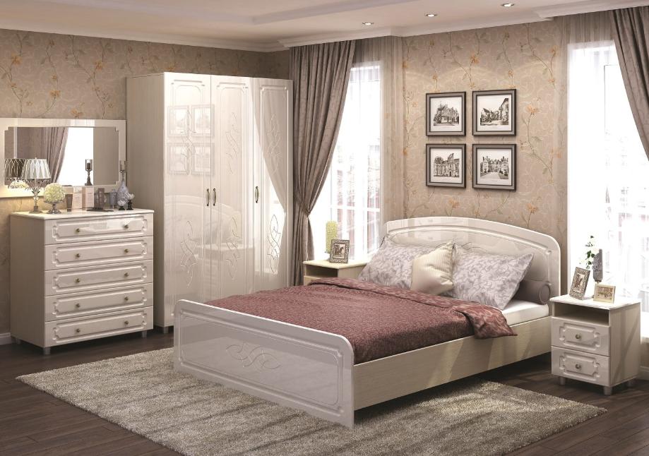 Спальня Виктория жемчуг глянец Стендмебель в Челябинске