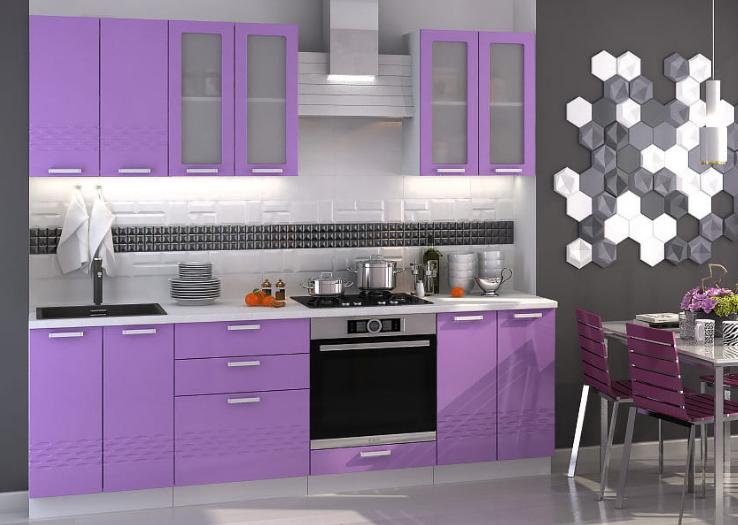 Кухня Глория стендмебель фиолет в Челябинске